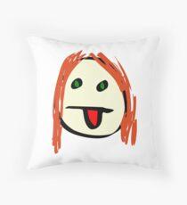 Emoticon Grunge Floor Pillow