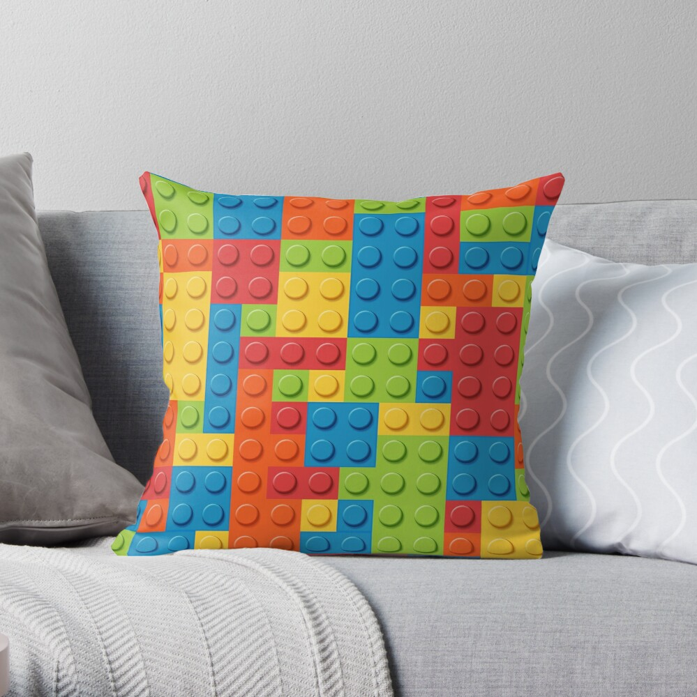 Bricks Throw Pillow By Smarques Redbubble