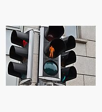 Crosswalk light in Dublin, Ireland Photographic Print