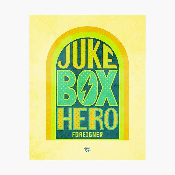 Foreigner Juke Box Hero Photographic Print