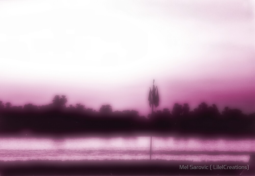Egyptian Sunset in purple by Mel Sarovic