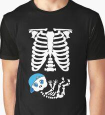 eb2b9283b7e59 Maternity Cool Baby Boy Skeleton Shirt Blue Hat Graphic T-Shirt