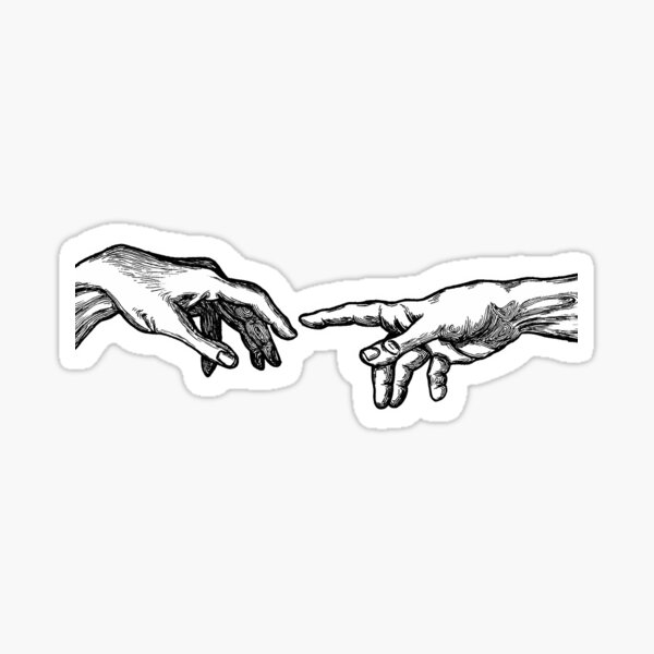 Creation Of Adam Sticker