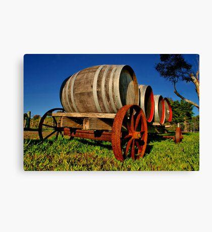 """On The Wagon"" Canvas Print"