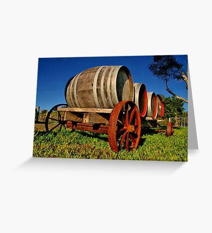 """On The Wagon"" Greeting Card"