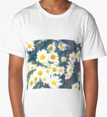 Pattern of chamomiles. Flower ornament Long T-Shirt