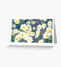 Pattern of chamomiles. Flower ornament Greeting Card