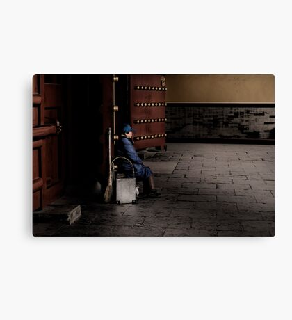 Waiting for dirt Canvas Print