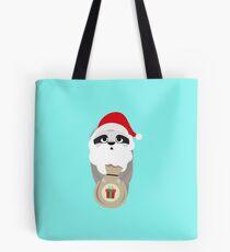 Santa Sloth wit Presents happy-Design Tote Bag