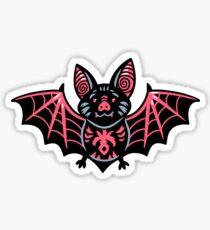 Cute vampire bat character Sticker