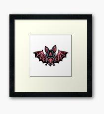 Cute vampire bat character Framed Print