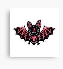 Cute vampire bat character Canvas Print