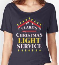 Clark's Christmas Lighting Service Women's Relaxed Fit T-Shirt