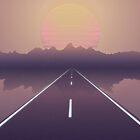 «Outrun the Sun - RetroWave» de Jennifer Walsh