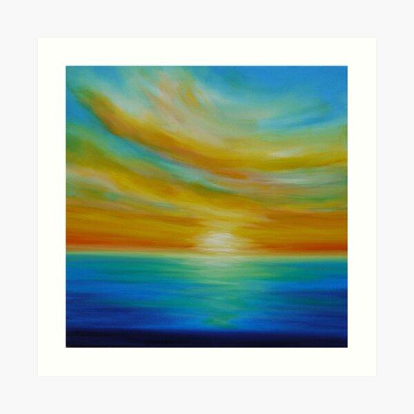 Tangerine Skies Art Print