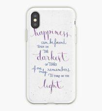Vinilo o funda para iPhone La felicidad se puede encontrar incluso en los tiempos más oscuros
