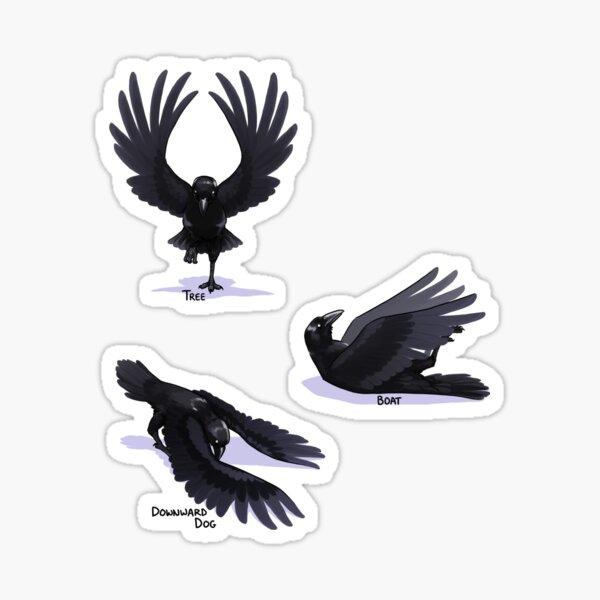 Yoga Raven Sticker