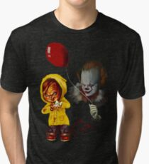 Halloween Best Gift Chucky The Clown  Tri-blend T-Shirt