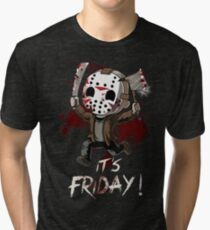 Halloween Best Gift - Friday 13th Tri-blend T-Shirt