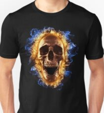 Skull burning in fire T-shirt T-Shirt