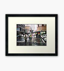 rain in Sydney Framed Print