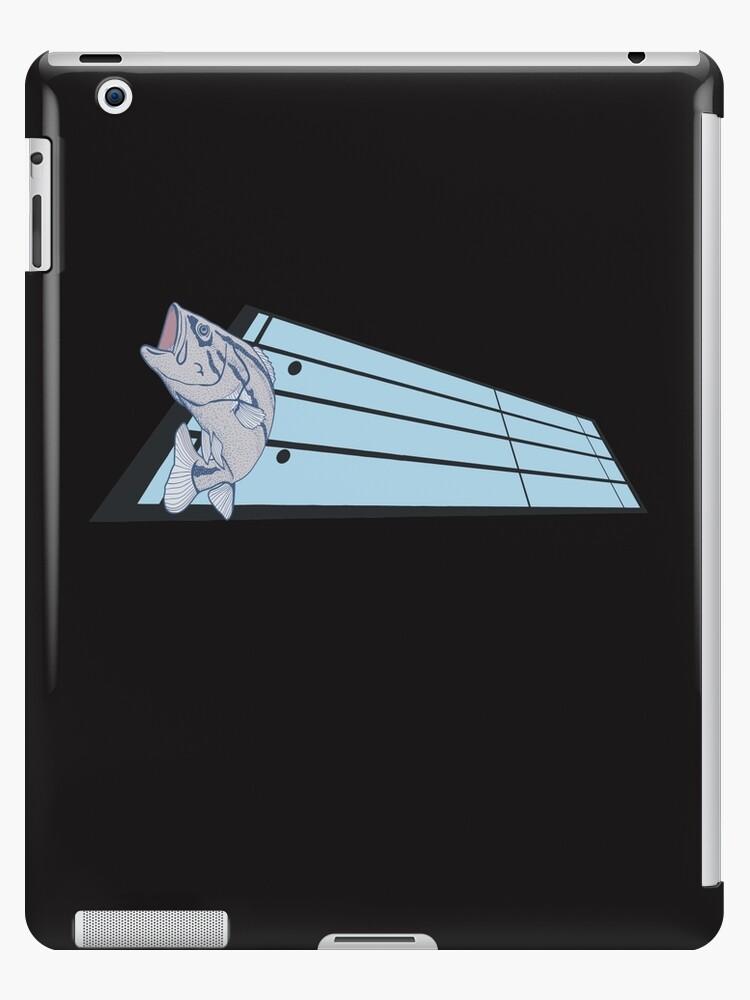 'Bass Fish Bass Clef Clever Musical Fishing Pun' iPad Case/Skin by merchhost