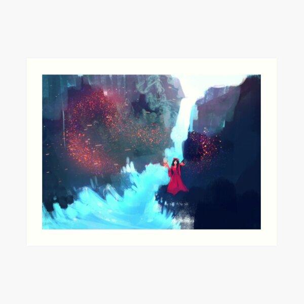 Waterfall - Mage - Magic Art Print