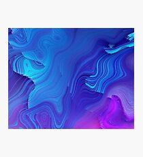 Glitch Wave Retro Blast - Glitch Art Print Photographic Print