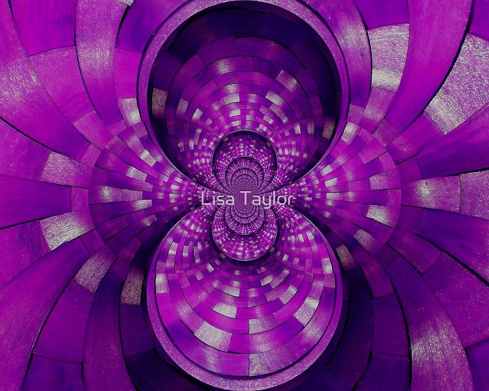 Vibrant Purple Weave by Lisa Taylor