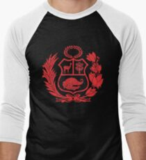 Peru Escudo Peruvian Coat of Arms Men's Baseball ¾ T-Shirt