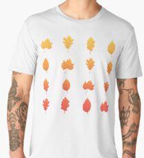 Autumn leaf (pink) Men's Premium T-Shirt
