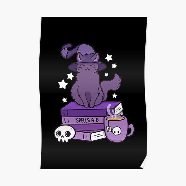 Feline Familiar 02 // Black   Nikury Poster