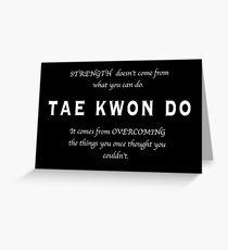 Tarjeta de felicitación Cita Inspirada de Tae Kwon Do