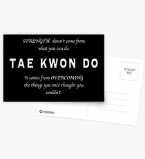 Tae Kwon Do Inspirational Quote Postcards