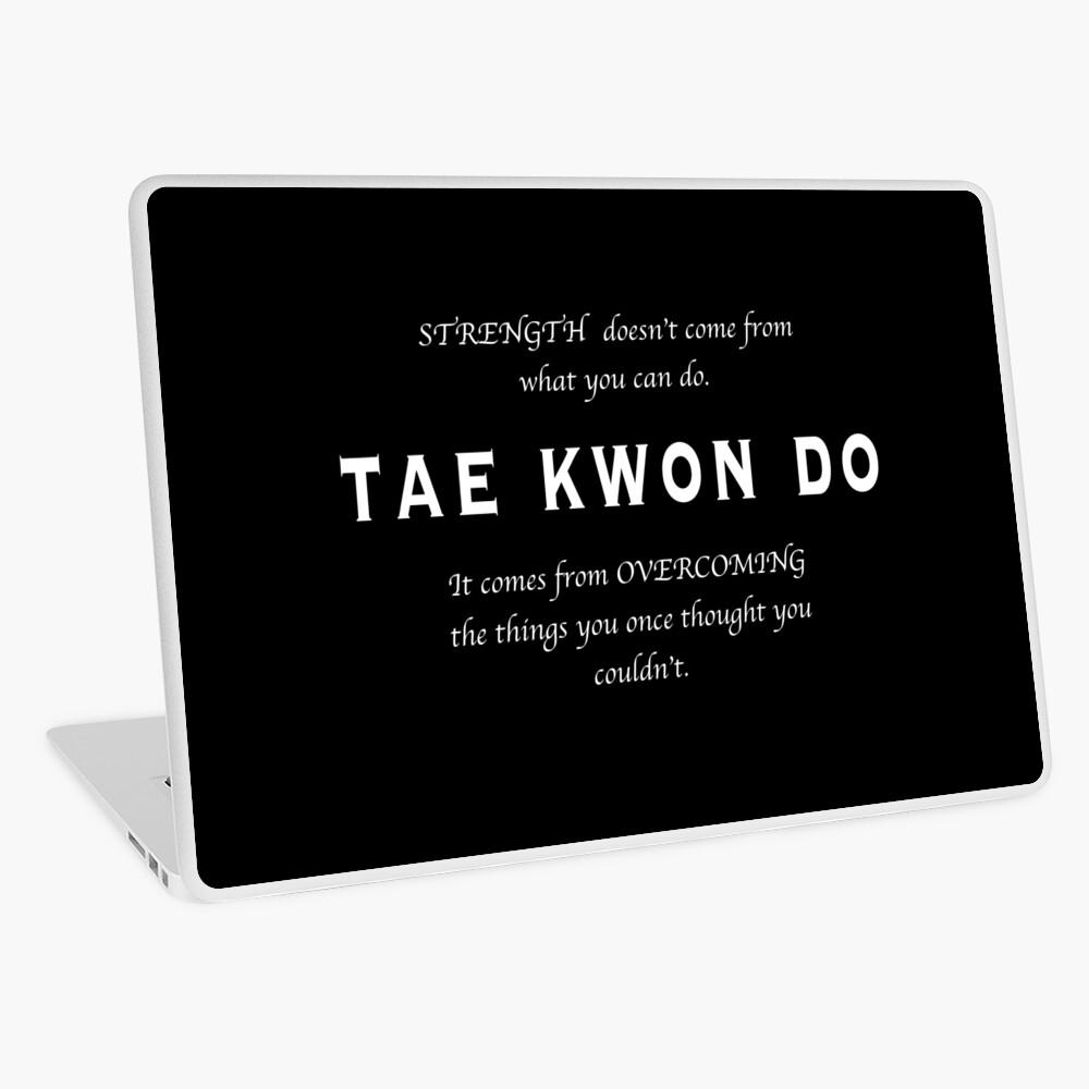 Cita Inspirada de Tae Kwon Do Vinilo para portátil