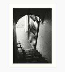 Old Gaol Stairs Art Print