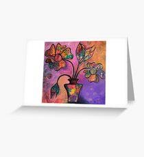 Happy Days - Vase of Flowers Greeting Card