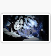 Son goku ultra instinct blue theme Sticker