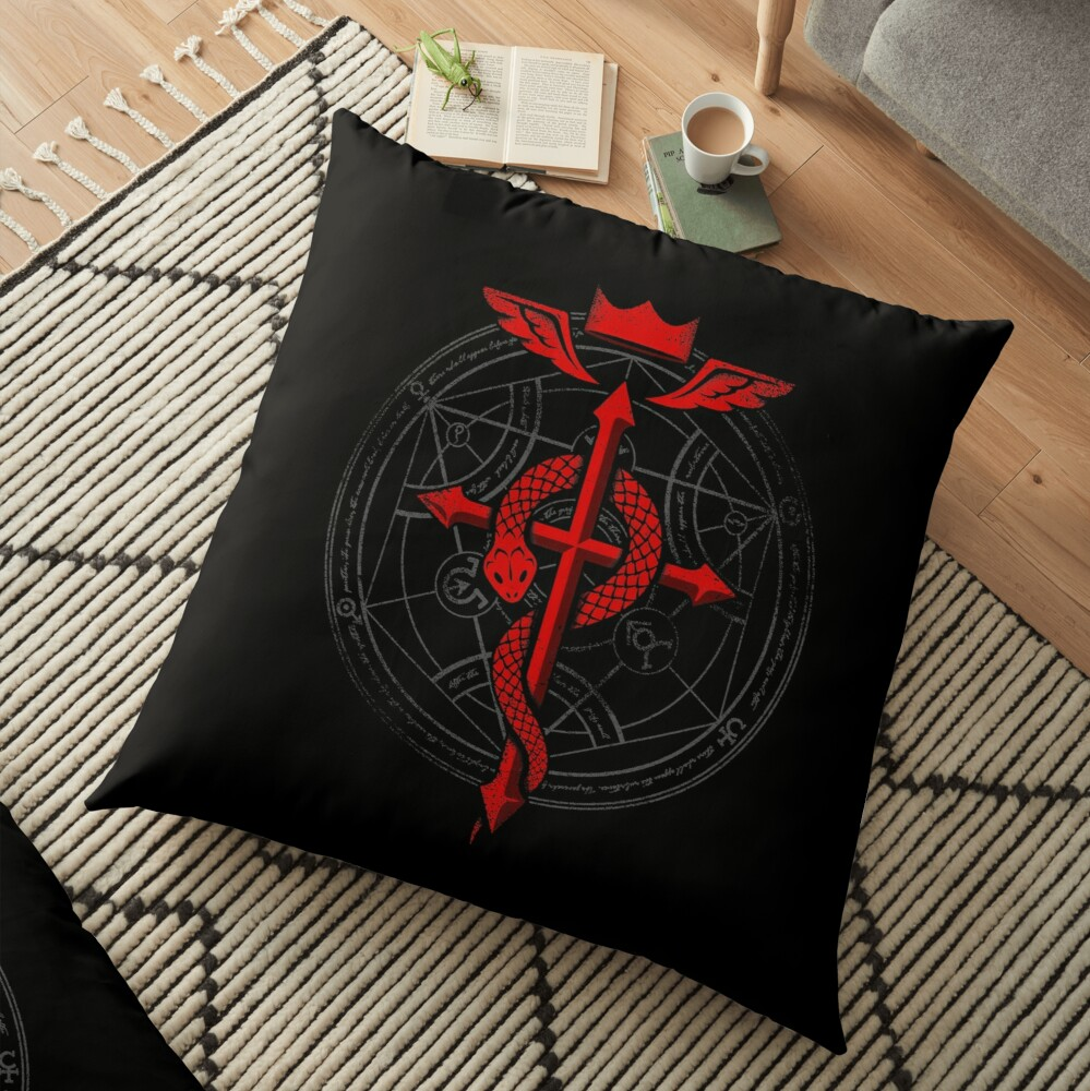Fullmetal Alchemist Flamel Floor Pillow