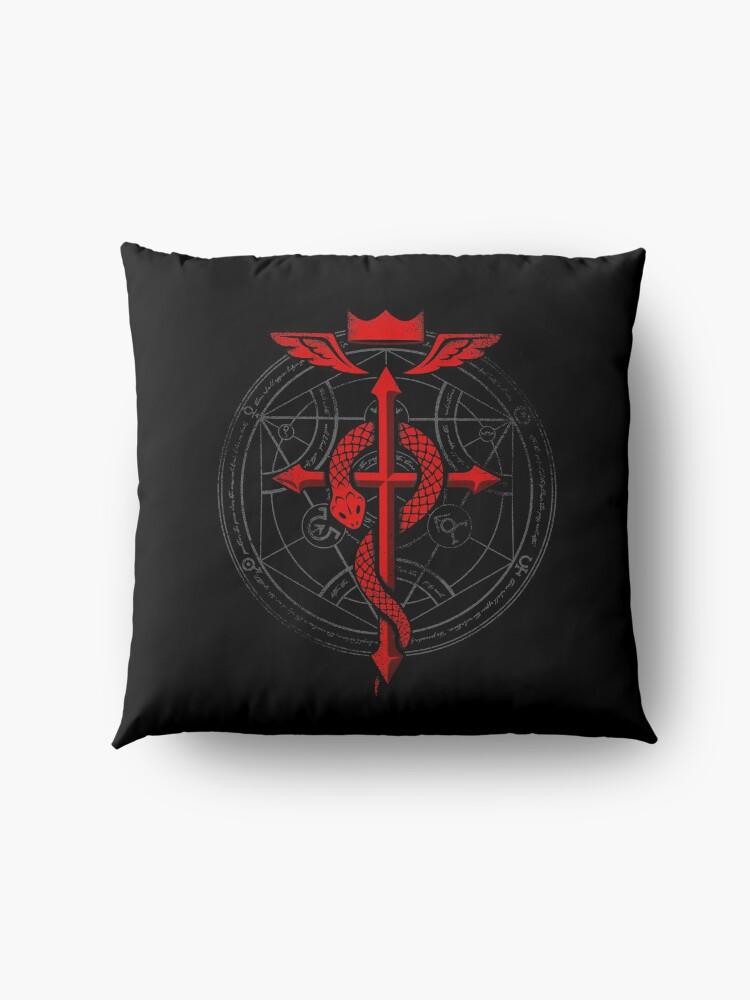 Alternate view of Fullmetal Alchemist Flamel Floor Pillow