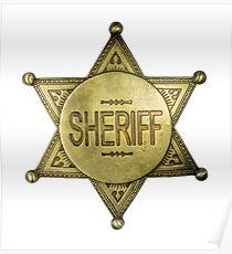 Vintage Sheriff Badge Poster
