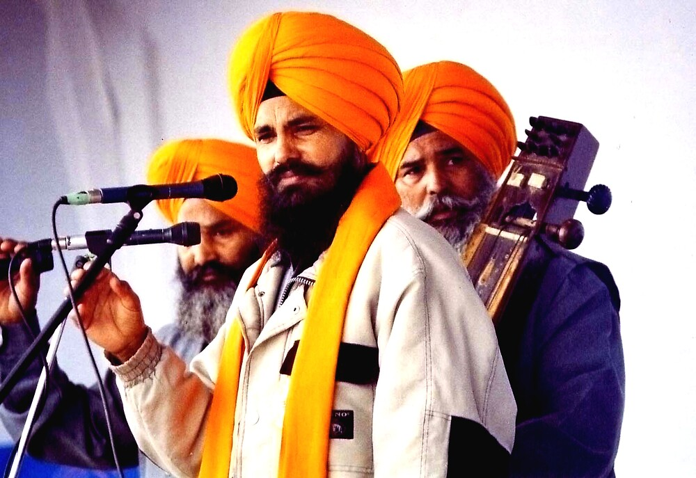 Sikh Musician. by Durlabh  Singh