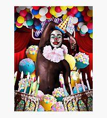 Birthday Clown Collage Photographic Print