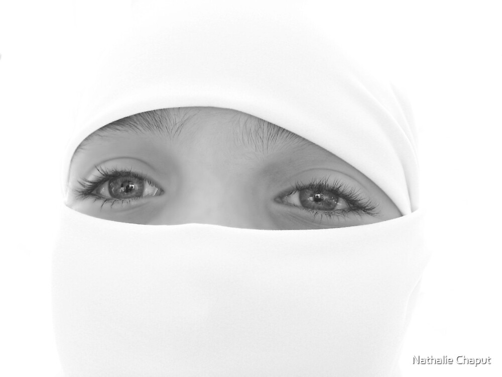 Eyes B&W by Nathalie Chaput