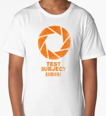 Test Subject -orange- Long T-Shirt