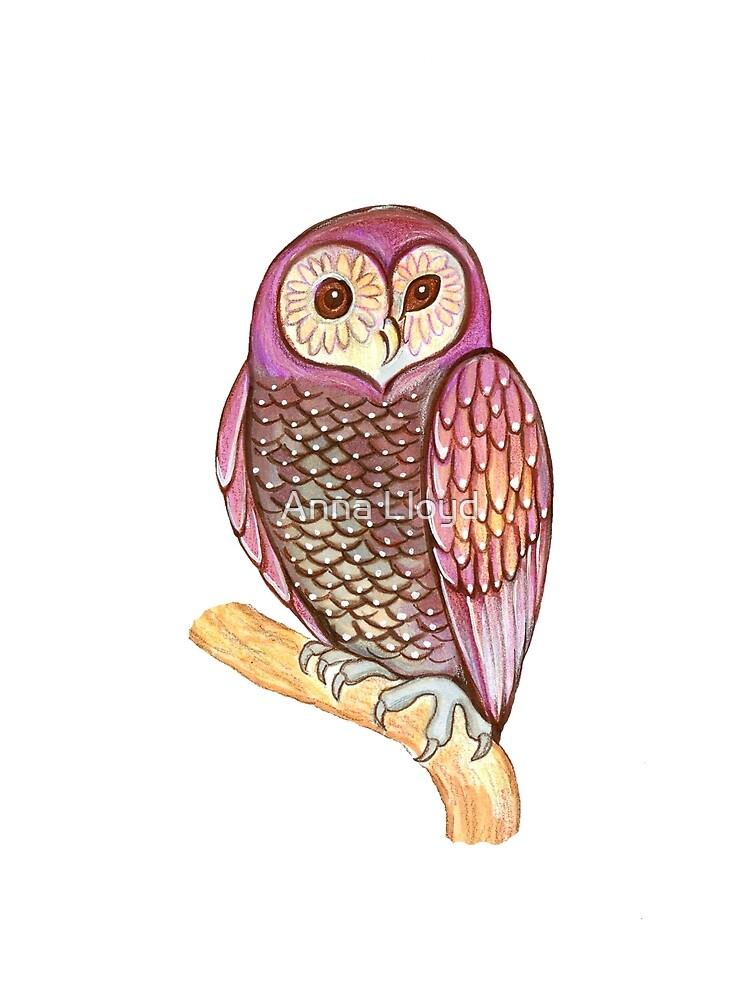 Magical wise owl by Anna Lloyd