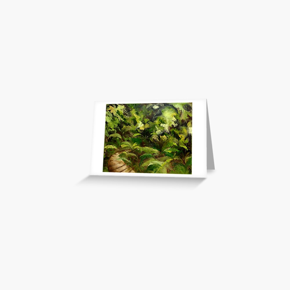 Tropical Walk Greeting Card