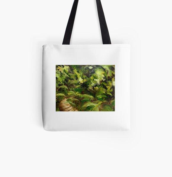 Tropical Walk All Over Print Tote Bag