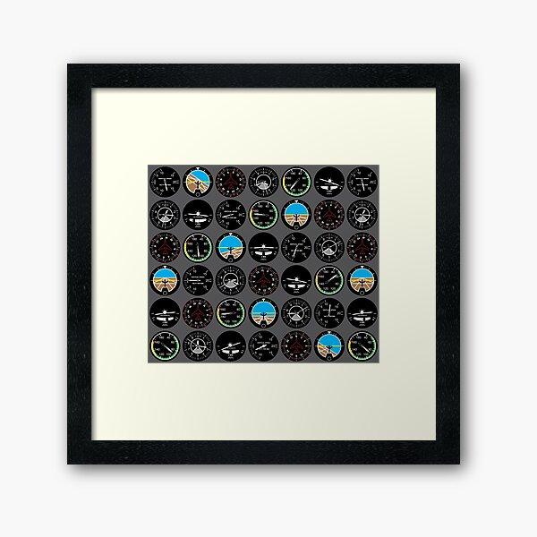 Flight Instruments Framed Art Print