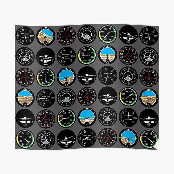 Flight Instruments Poster